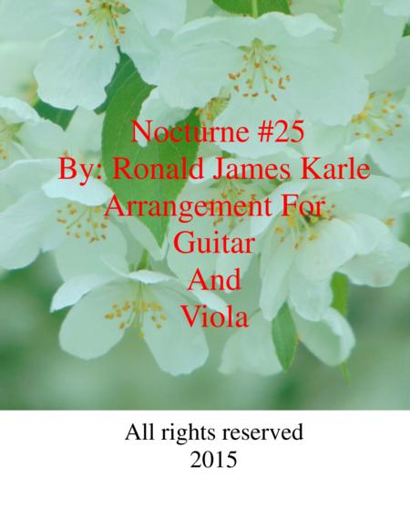 Nocturne #25  arrangement for Viola and Guitar
