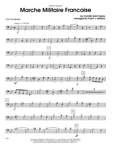 Marche Militaire Francaise - 2nd Trombone