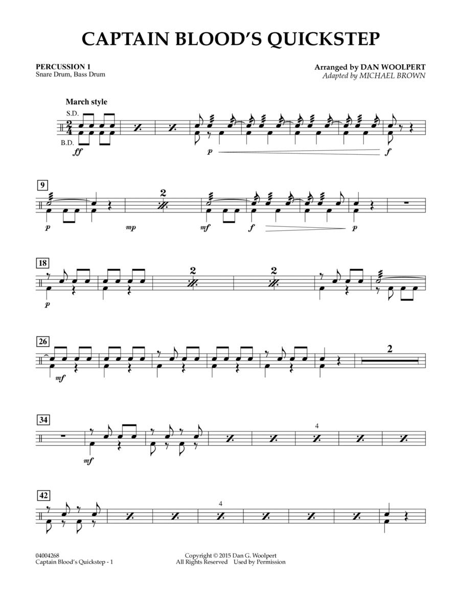 Captain Blood's Quickstep - Percussion 1
