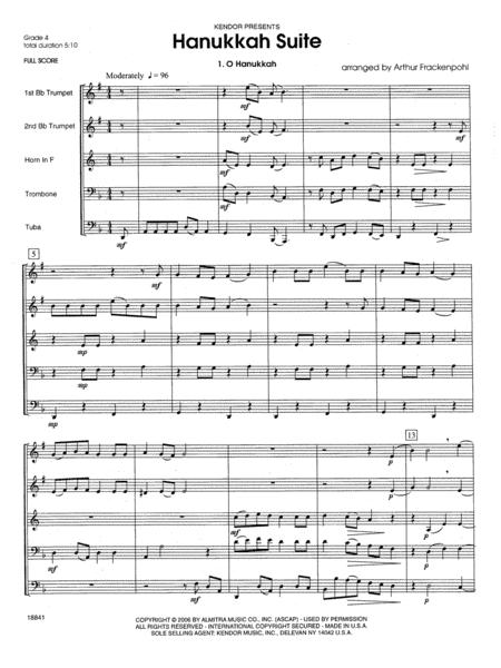 Hanukkah Suite - Full Score