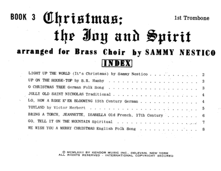 Christmas; The Joy & Spirit - Book 3/1st Trombone
