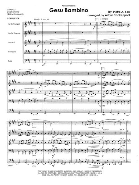 Gesu Bambino - Full Score