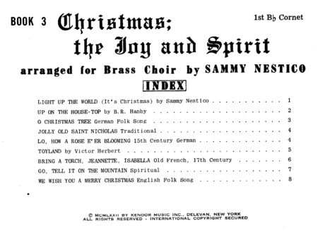 Christmas The Joy & Spirit - Book 3 - 1st Bb Cornet