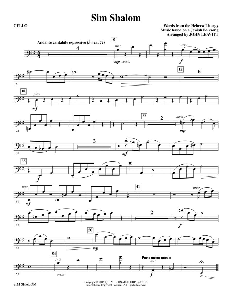 Sim Shalom - Cello