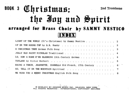 Christmas; The Joy & Spirit - Book 3/2nd Trombone