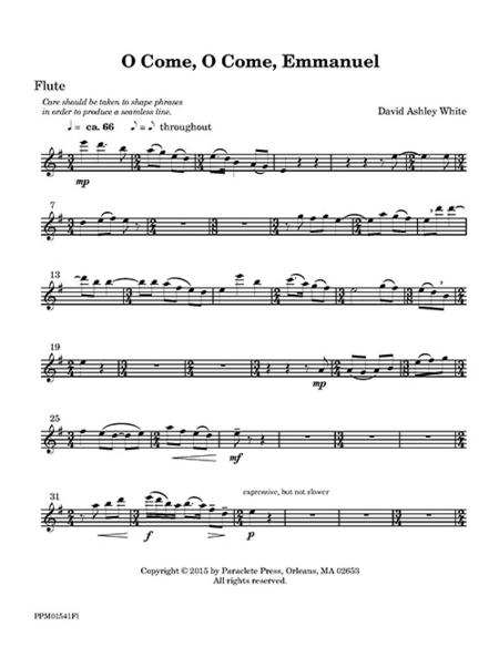 O Come, O Come, Emmanuel (flute part)