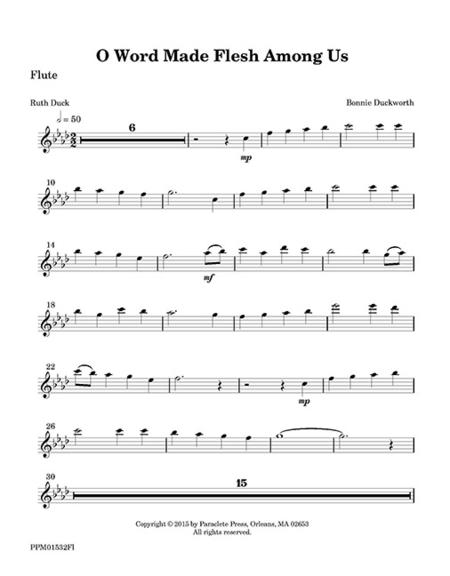 O Word Made Flesh Among Us (flute part)