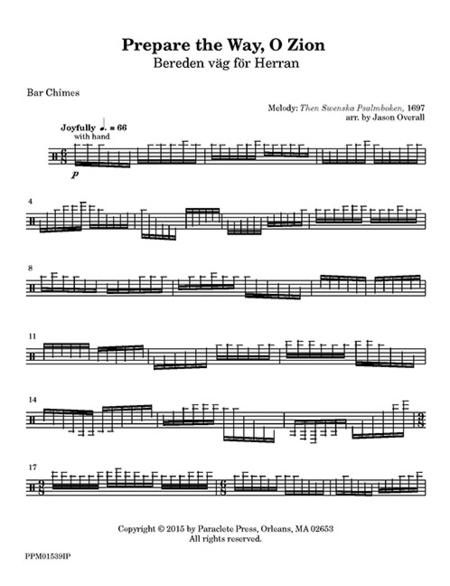 Prepare the Way, O Zion (instrumental parts)