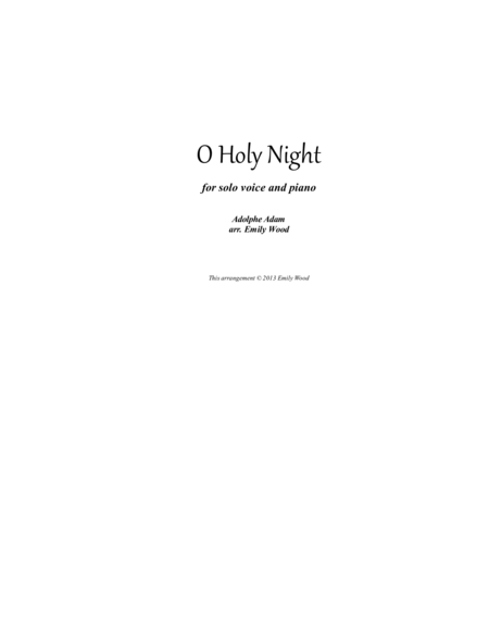 O Holy Night (in 4/4 time)