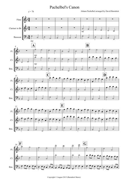 Pachelbel's Canon for Wind Trio