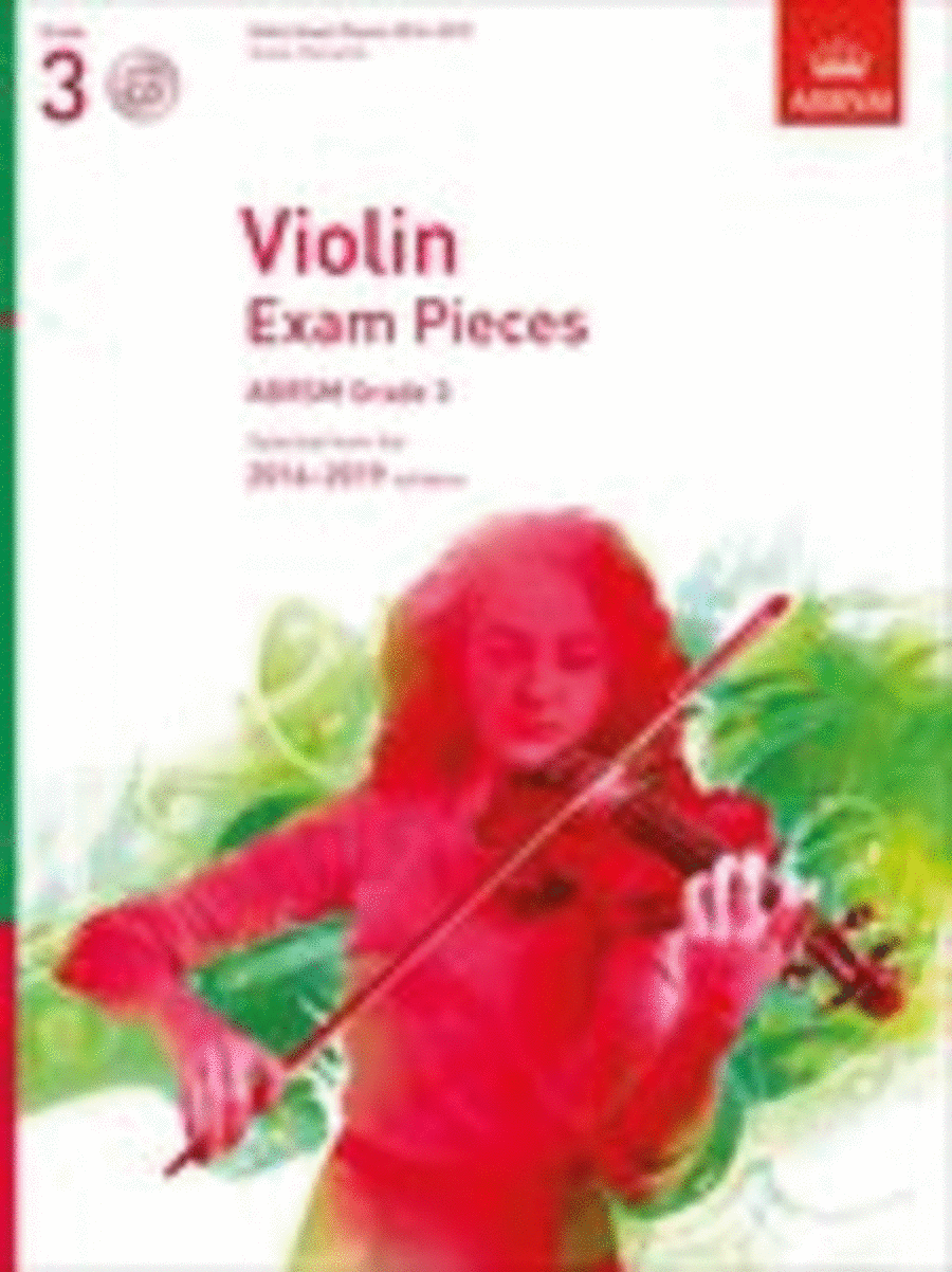 Violin Exam Pieces 2016-2019, ABRSM Grade 3, Score, Part & CD