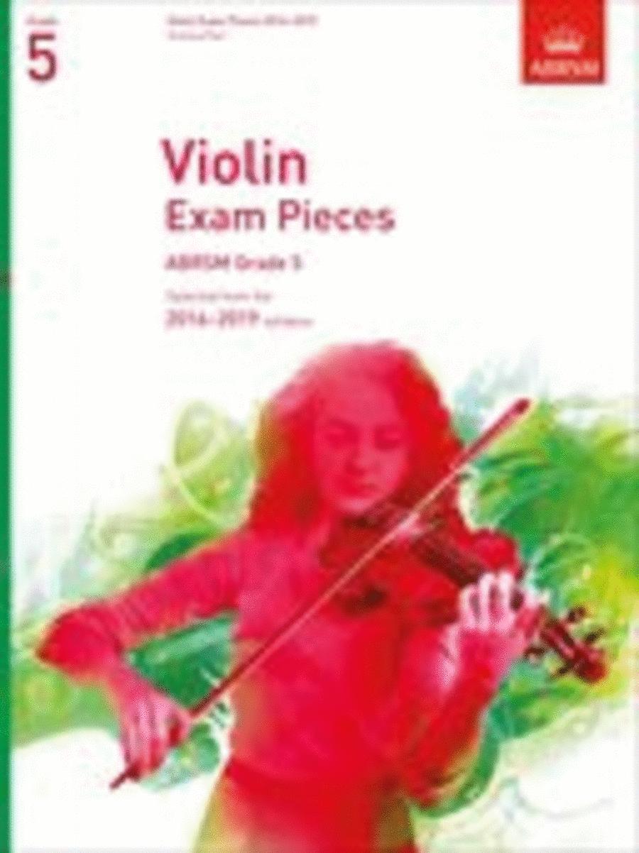 Violin Exam Pieces 2016-2019, ABRSM Grade 5, Score & Part