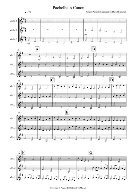Pachelbel's Canon for Violin Trio