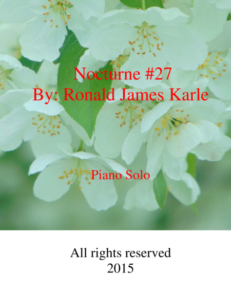 Nocturne #27 by: Ronald J. Karle