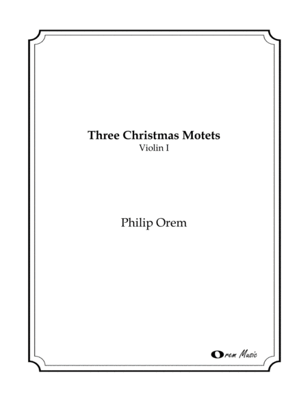 Three Christmas Motets - String parts