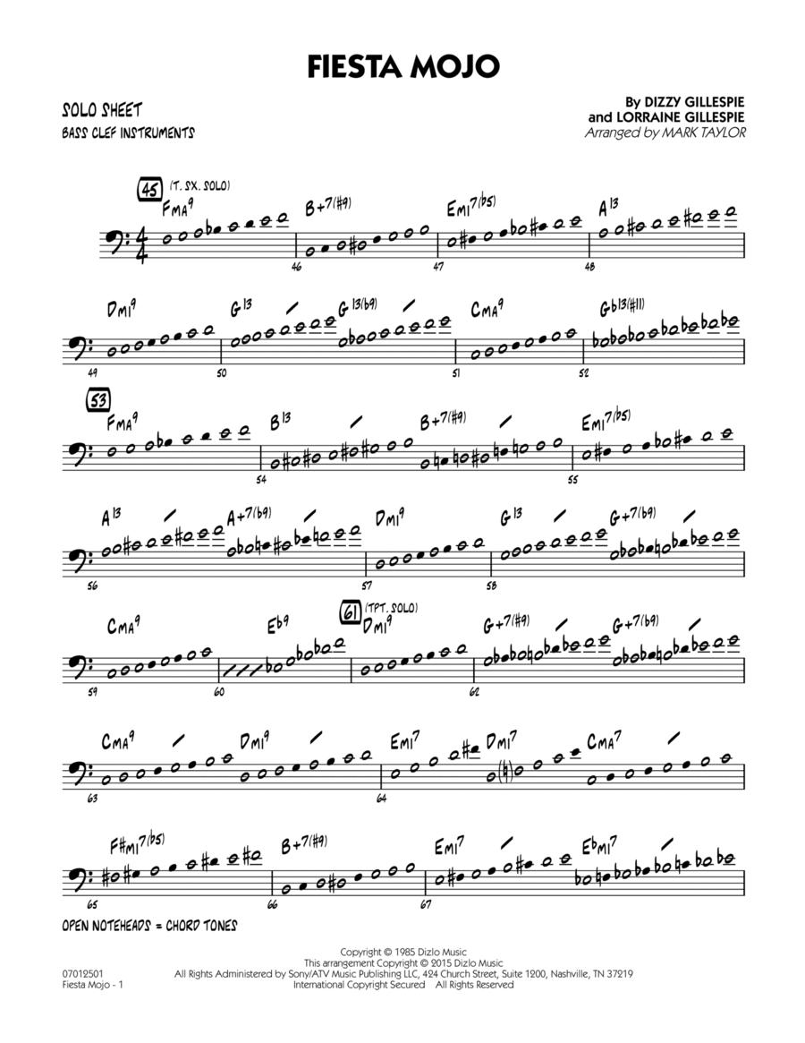 Fiesta Mojo - Bass Clef Solo Sheet