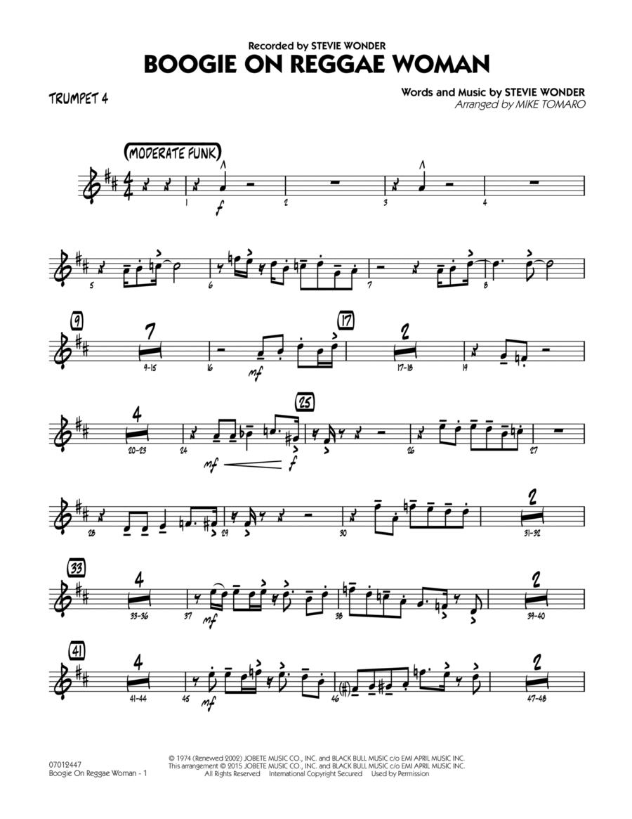 Boogie On Reggae Woman - Trumpet 4