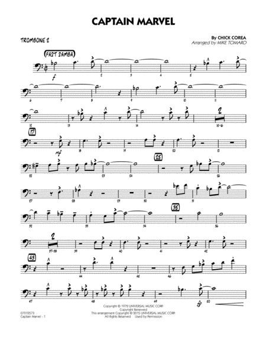 Captain Marvel - Trombone 2