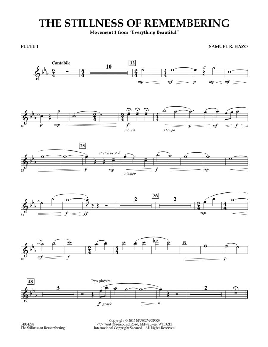 The Stillness of Remembering - Flute 1