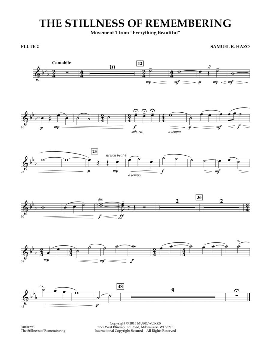 The Stillness of Remembering - Flute 2