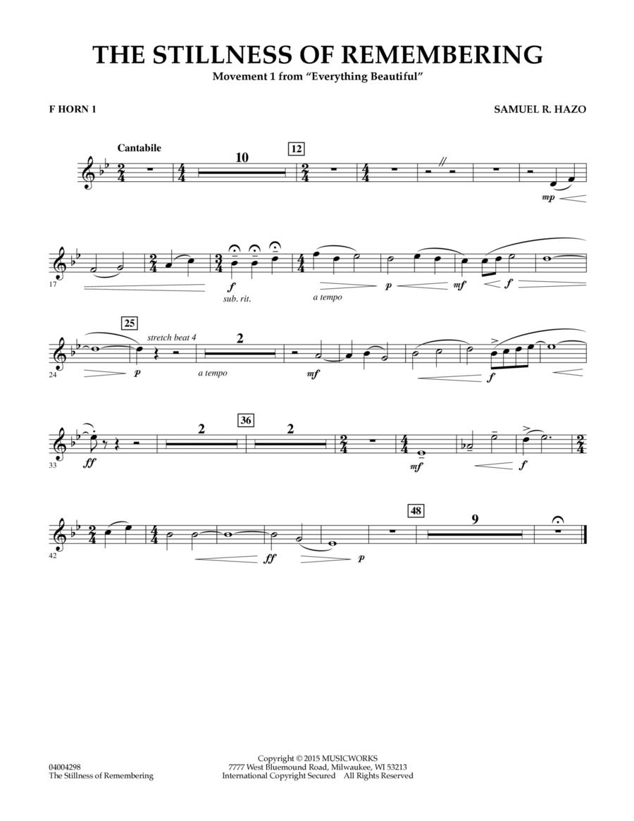 The Stillness of Remembering - F Horn 1
