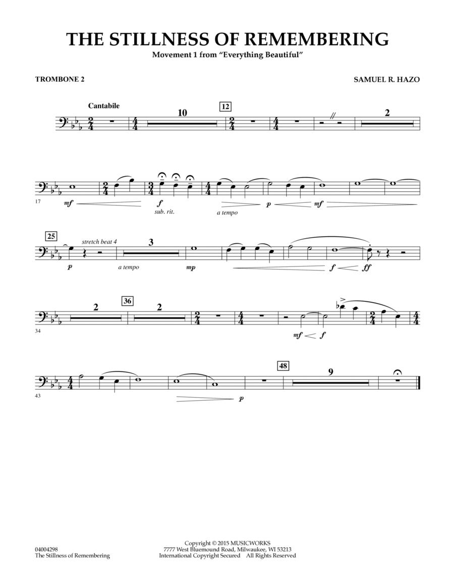 The Stillness of Remembering - Trombone 2
