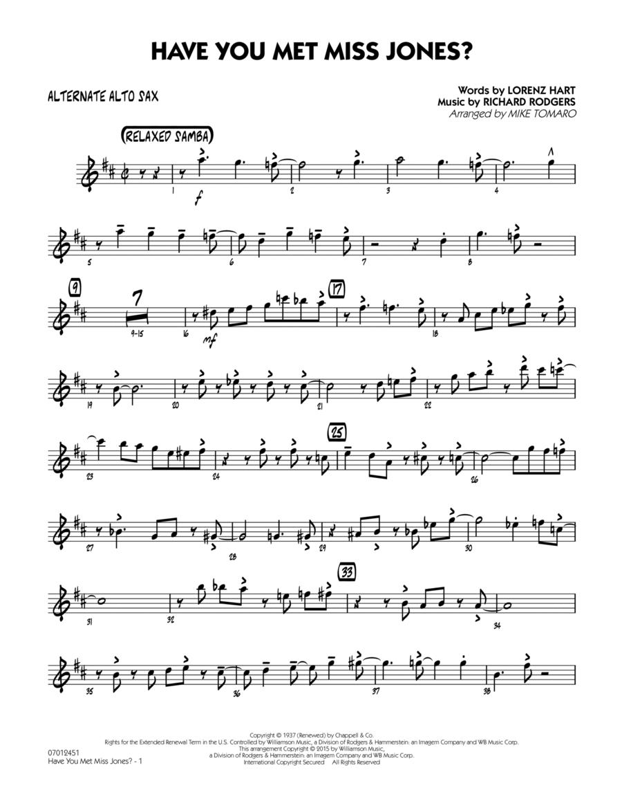 Have You Met Miss Jones? - Alternate Alto Sax