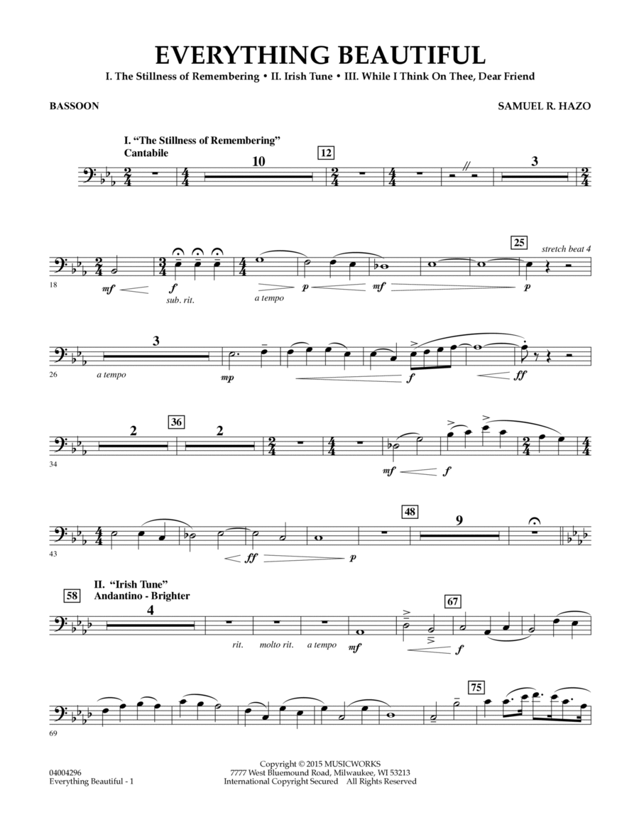 Everything Beautiful - Bassoon