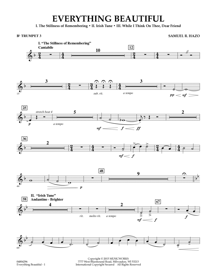 Everything Beautiful - Bb Trumpet 3