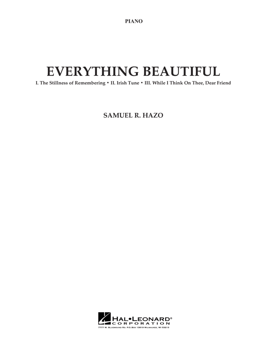 Everything Beautiful - Piano