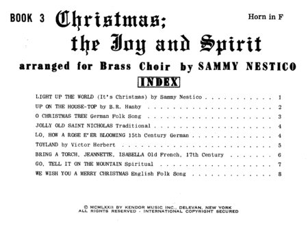 Christmas; The Joy & Spirit - Book 3/Horn in F