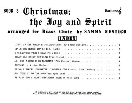 Christmas; The Joy & Spirit - Book 3/Baritone TC