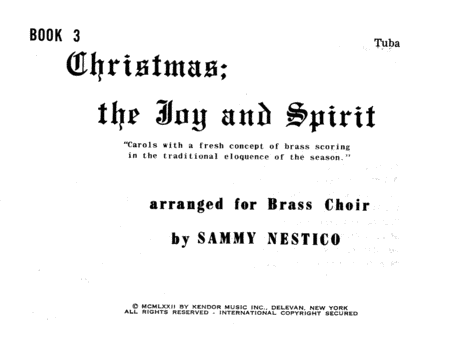 Christmas; The Joy & Spirit- Book 3/Tuba