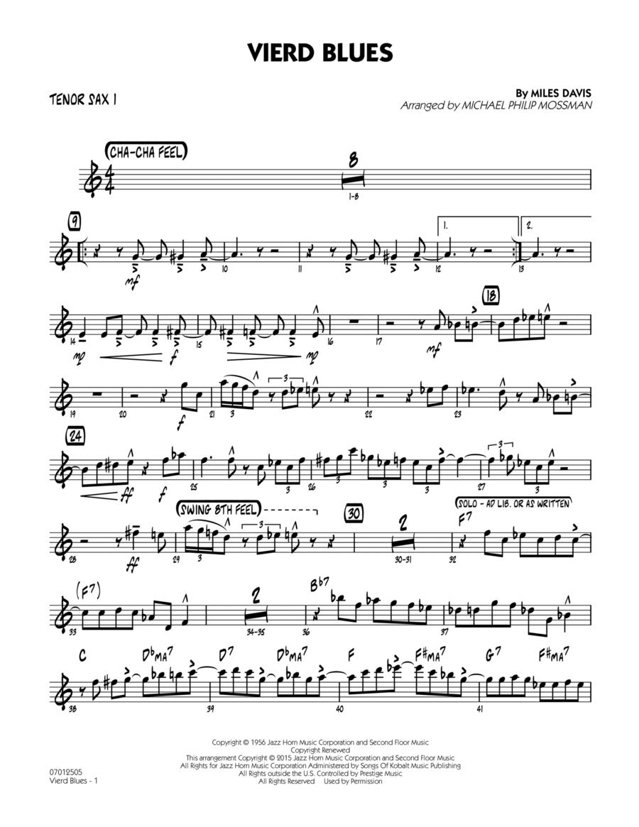 Vierd Blues - Tenor Sax 1