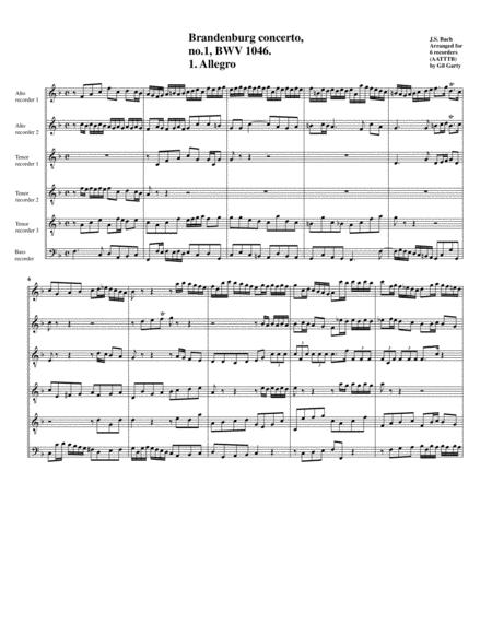 Brandenburg concerto no.1, BWV 1046