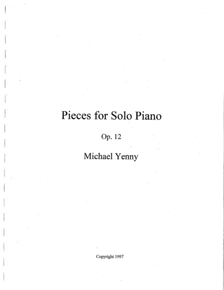3 Pieces for Piano, op. 12