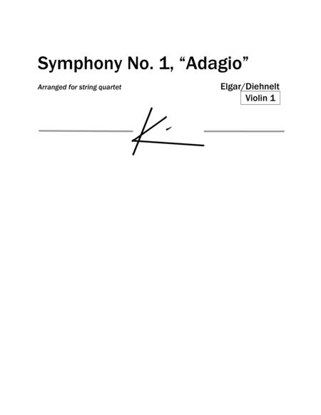 """Elgar: Symphony No.1, """"Adagio"""" for string quartet (Parts)"""