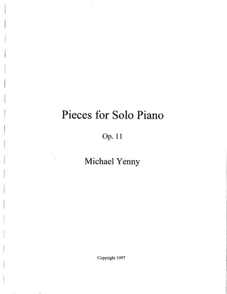 4 Pieces for Piano, op. 11