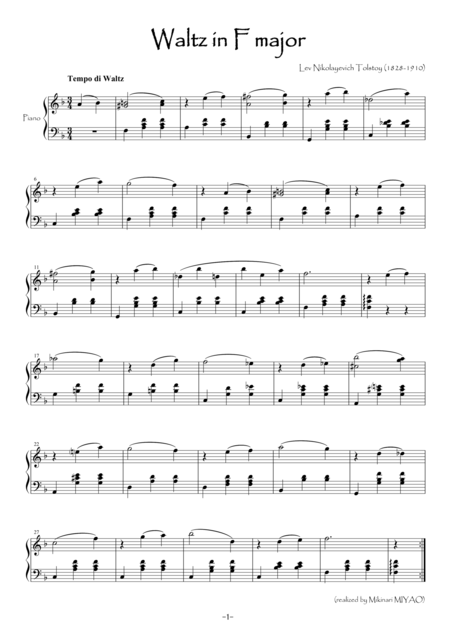 Tolstoy's Waltz [piano solo]