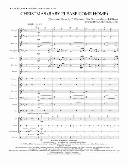 Christmas (Baby Please Come Home) - Conductor Score (Full Score)