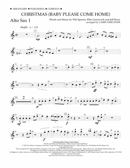 Christmas (Baby Please Come Home) - Eb Alto Saxophone 1
