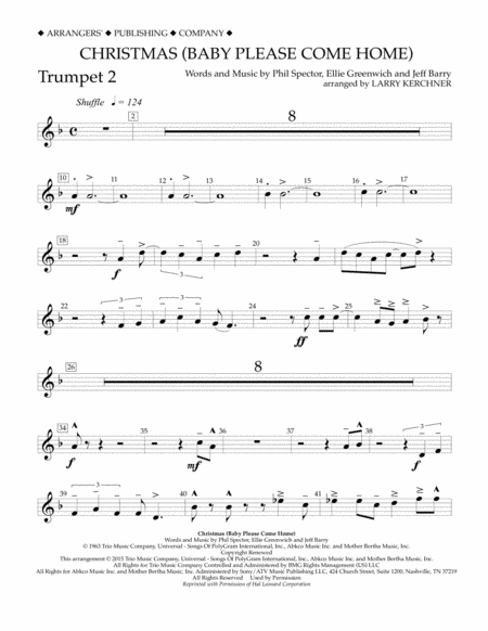 Christmas (Baby Please Come Home) - Bb Trumpet 2