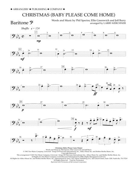Christmas (Baby Please Come Home) - Baritone B.C.