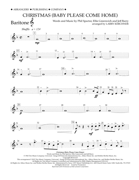 Christmas (Baby Please Come Home) - Baritone T.C.