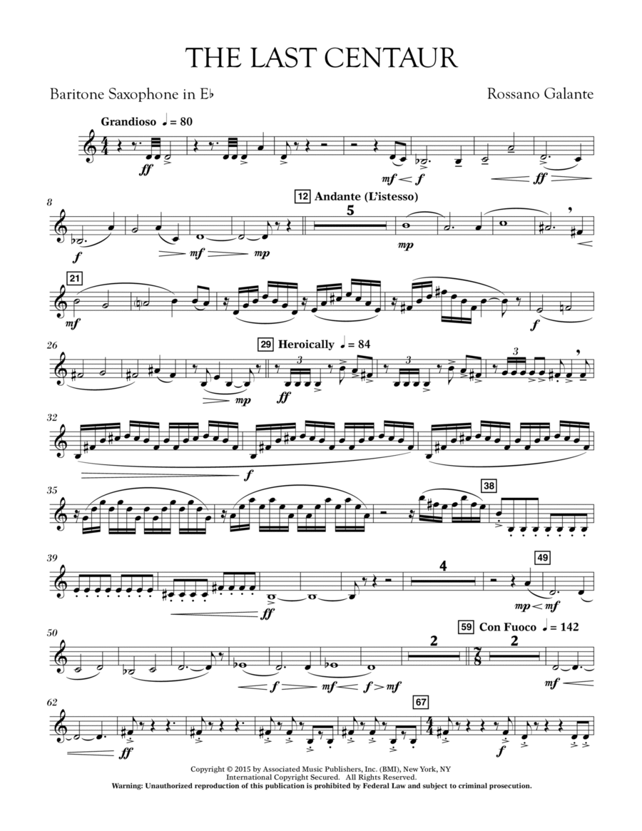 The Last Centaur - Eb Baritone Saxophone