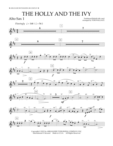 The Holly and the Ivy - Eb Alto Saxophone 1