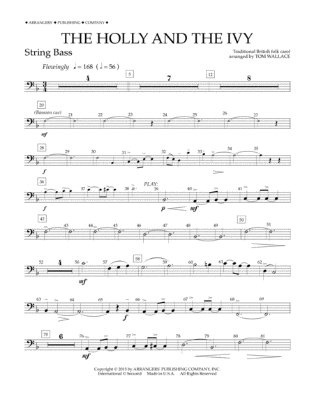 The Holly and the Ivy - String Bass