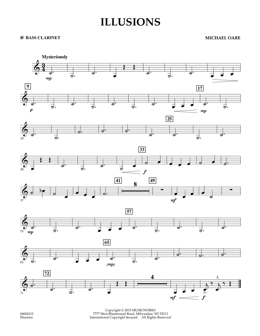 Illusions - Bb Bass Clarinet