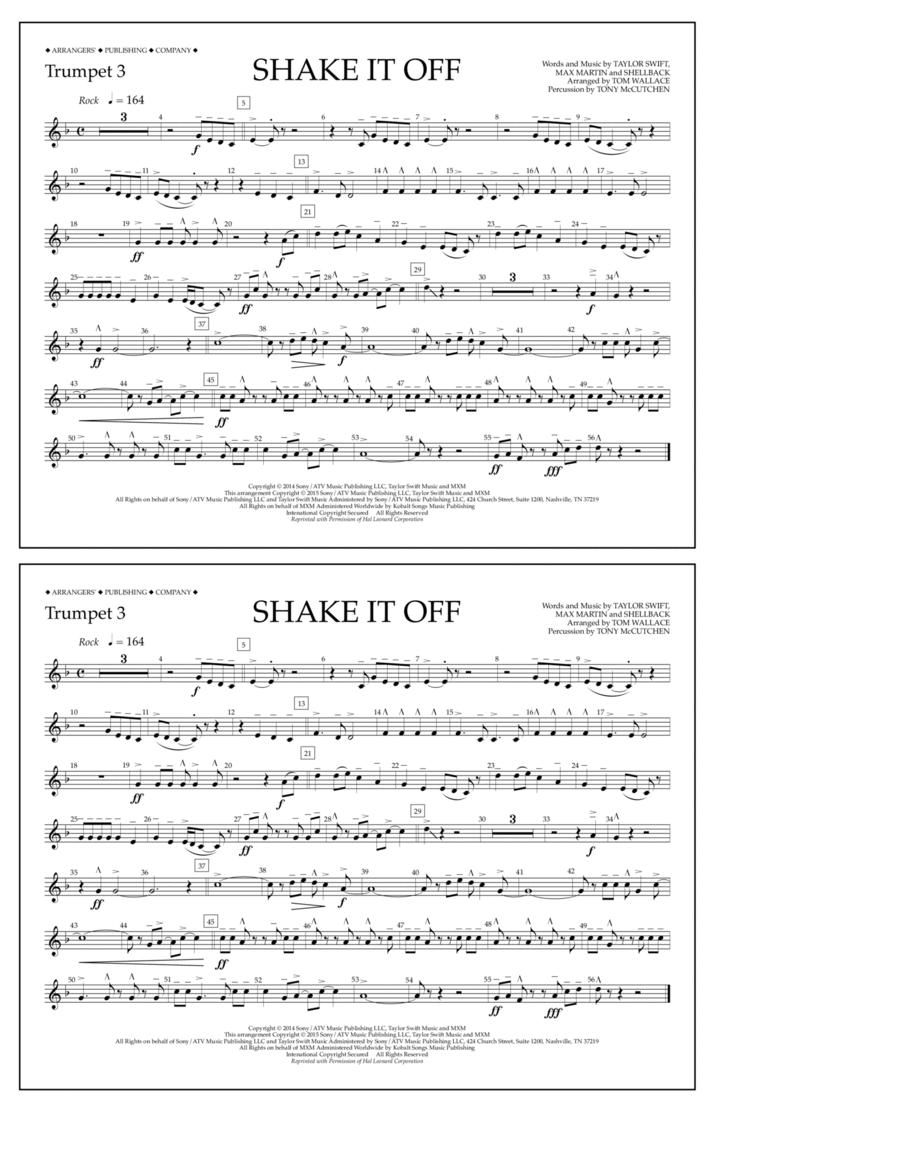 Shake It Off - Trumpet 3
