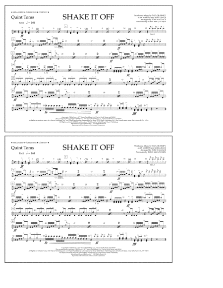 Download shake it off quint toms sheet music by taylor swift sheet